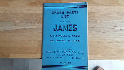 JAMES MANUAL AND INSTRUCTION FOR THE MODELS 122 CC--98cc