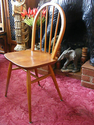 Vintage Retro Mid Century Ercol Windsor Stick Back Elm Kitchen Dining Chair