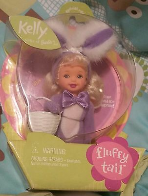 Fluffy Tail Easter Barbie Kelly Club Purple Bunny Carrots Blonde Special NRFB 01