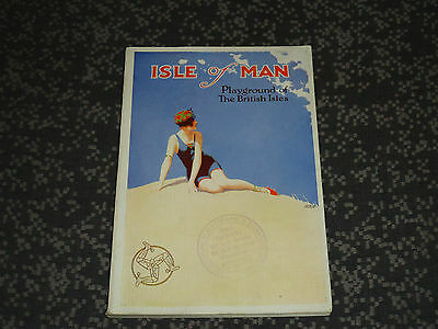 Isle Of Man Guide Book 1927 - Mint Condition   *- With Fold Out Map -*
