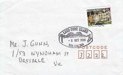 J 1864 Lord Howe Island 2008 cover to Victoria