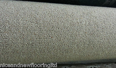 *SALE* 100% WOOL BERBER Beige carpet remnant 6m x 5m **FREE DELIVERY**