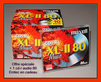 10 Cd-r Audio vierges / Maxell Music