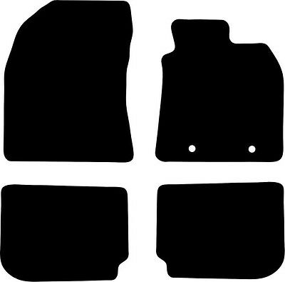 Toyota Avensis (2012-DATE) Fully Tailored Black Carpet Car Floor Mats