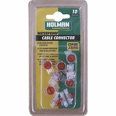 Holman WATERPROOF IRRIGATION CABLE CONNECTOR 10Pcs,Prevents Corrosion*Aust Brand