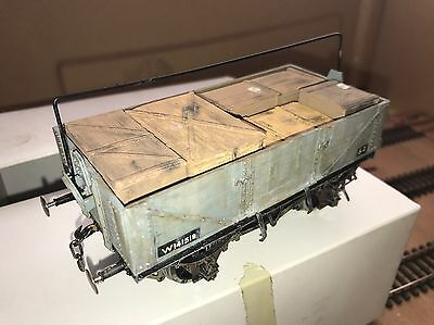 'O' Gauge Wagon With Crate Load Built From Coopercraft Kit