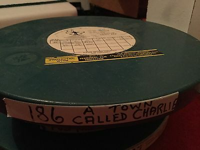 """LARGE 16mm PROFESSIONAL FILM REEL.DOCUMENTARY""""A TOWN CALLED CHARLIE""""ESSO FILM"""
