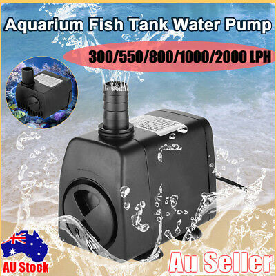 300/550/2000 LPH Submersible Aquarium Fountain Pond Marine Water Pump Fish Tank