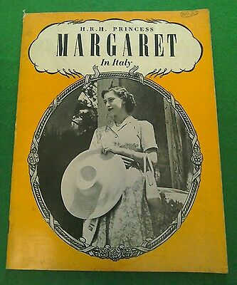 Princess Margaret In Italy Commemorative Booklet Black& White Pictures Editorial