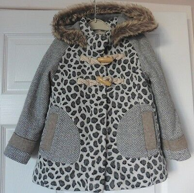 Lovely Girls Hooded Next Coat, Age 4 - 5 Years