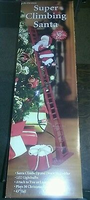 Mr Christmas Super Stepping Climbing Santa 2015 New In Box Unopened Never Used