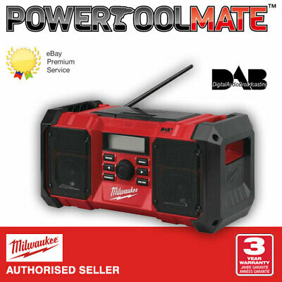 Milwaukee M18JSRDAB+ 18v AC Power Job Site Radio DAB - Naked - Body Only