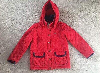 Girls MINI Boden Red QUILTED Coat/Jacket 9-10yrs VGC!!