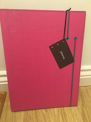 Filofax A4 Pink Apex Folder notebook notepad 826996