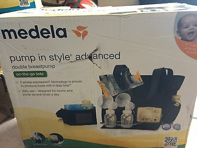 New - Medela Pump In Style Advanced Breastpump on the go tote 57063 damaged box