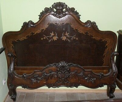 antique bed frame Louis XV style