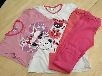 Girls t-shirt & leggings sets x 2 by Ladybird size 6-7 years