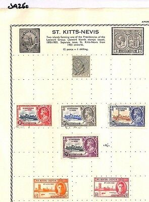 SA260 ST KITTS-NEVIS  Original album page from old-time collection