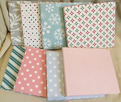 NEW SET OF 8 PASTEL MINI SCRAPBOOK ALBUMS 184mm x 170mm approx