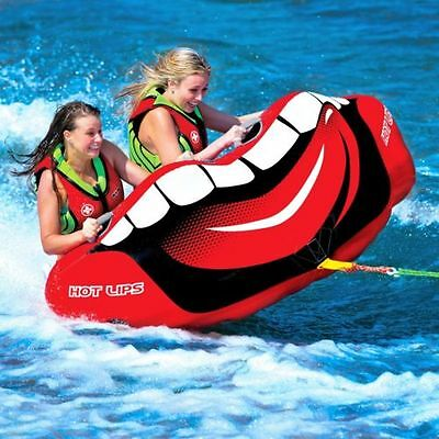 Hot Lips tube inflatable towable lounge water-ski new 2015 item WOW 15-1100