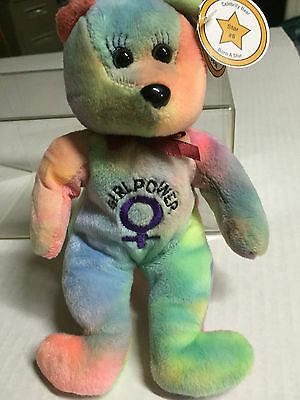 Celebrity Bear #8 representing Spice Girl Ginger, retired 1999, only16K produced