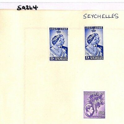 SA264 SEYCHELLES KGVI  Original album page from old-time collection