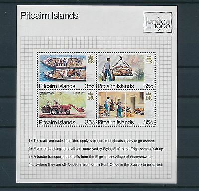 LF38963 Pitcairn Island 1980 transport of the mail  good sheet MNH