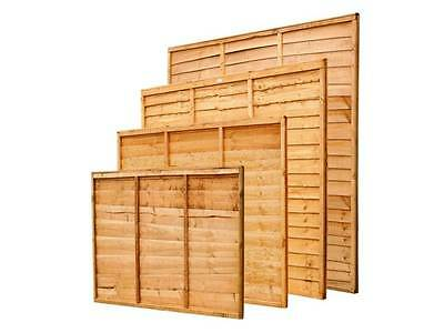 Wooden Fence Panel 6ft x 5ft Waney (Lap) Panel