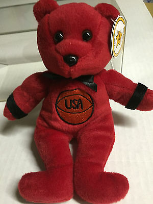 Celebrity Bear #9 representing Michael Jordan, retired 1999, only 23K produced