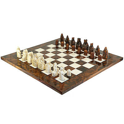 The Large Isle Of Lewis Italian Briar Luxury Chess Set RCPB157