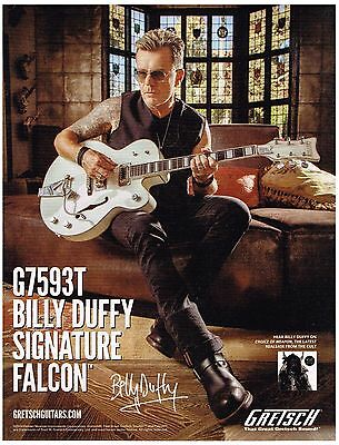 Gretsch Guitars - Billy Duffy of The Cult - 2014 Print Advertisement