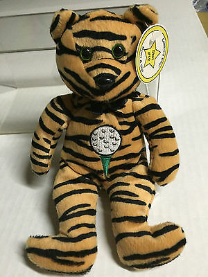 Celebrity Bear #12 depicting Tiger Woods, retired '99, only 17k (old tag)