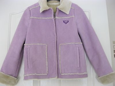 ideal for winter days  lovely condition girls coat lilac by quiksilver age 8