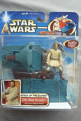 STAR WARS Attack of The Clones OBI-WAN KENOBI (flips) c.2002 - Unopened