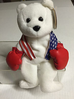 Celebrity Bear #14 depicting Sly Stalone(Rocky), retired '99, only 15k (old tag)