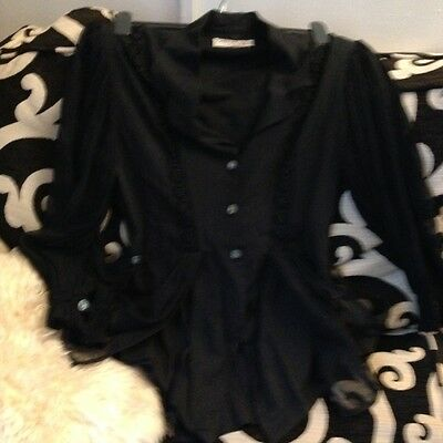 vintage evening glamerous tailored blouse size12