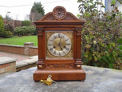 Very Nice Antique Architectural Mantel/bracket/boardroom Clock
