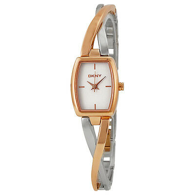 DKNY NY2236 Crosswalk White Dial Silver and Rose Gold-tone Ladies Watch