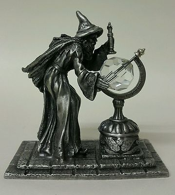 SORCERESS WIZARD-MAG - THE CRYSTAL FLAME Signature Fantasy Brass/Metal Figurine