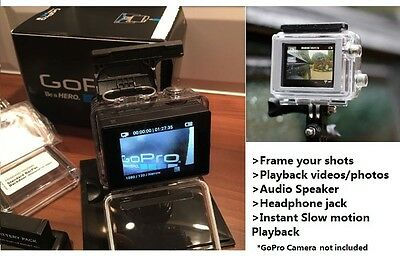 GoPro LCD Touch BacPac Screen Back Pack 4 Go Pro Hero 3 3+ 4 Video audio Playbak