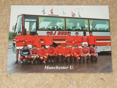 Rare Manchester United postcard from Sweden