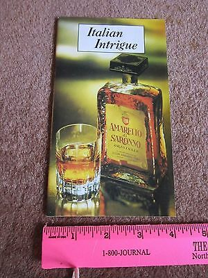 Amaretto di Saronno Liquor Recipe Booklet 1980 Cocktail Cookbook let Collectible