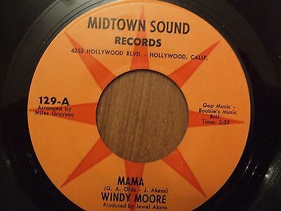 Rare soul WINDY MOORE Mama MIDTOWN SOUND
