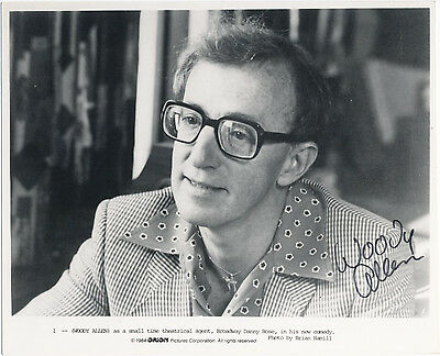 WOODY ALLEN original AUTOGRAPH 8x10 signed photo 80ies  (hand signed)