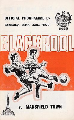 Blackpool v Mansfield Town FA Cup 4th Round 1969/70