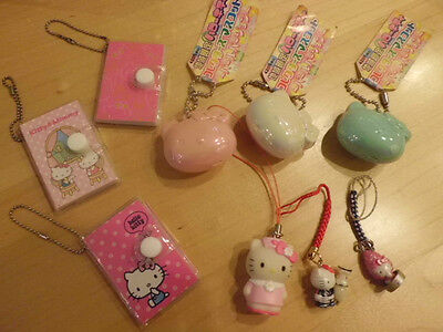 Sanrio Hello Kitty Mascot strap keychain gotouchi notebook set