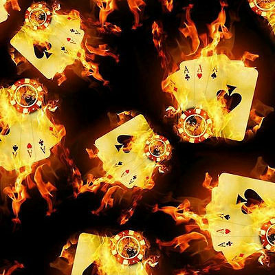 Hydrographic Film Water Transfer Hydrodipping  Hydro Dip Aces On Fire