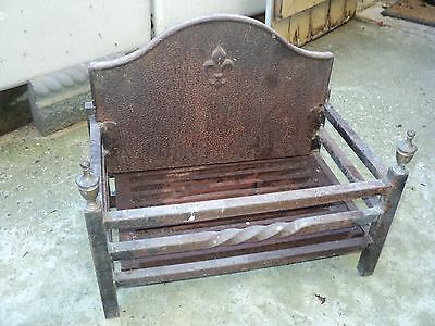 antique victorian cast iron fireplace grate