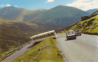 Coach taking the Devils Elbow-Glen Shee. Classic Coach & Cars VGC