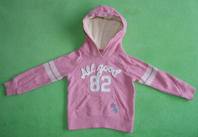 Next pink hoodie with stars for girl age 3-4 years 104cm